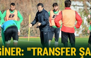 ERGİNER: 'TRANSFER ŞART'