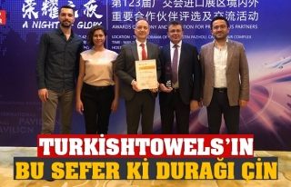 TURKİSHTOWELS'IN BU SEFER Kİ DURAĞI ÇİN