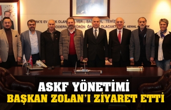 ASKF YÖNETİMİ  BAŞKAN ZOLAN'I ZİYARET ETTİ